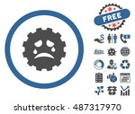 gear tears smiley pictograph... | Shutterstock .eps vector #487317970