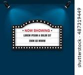 theater cinema sign. vector... | Shutterstock .eps vector #487319449