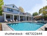 custom home  menlo park  back...   Shutterstock . vector #487322644
