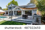 custom home build  menlo park ... | Shutterstock . vector #487322653