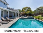 custom home  menlo park  back... | Shutterstock . vector #487322683