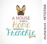french bulldog typographic... | Shutterstock .eps vector #487325368
