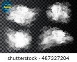 fog or smoke isolated... | Shutterstock .eps vector #487327204