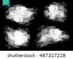 fog or smoke isolated...   Shutterstock .eps vector #487327228