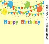 birthday | Shutterstock .eps vector #487327456