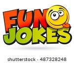 fun jokes inscription. vector... | Shutterstock .eps vector #487328248