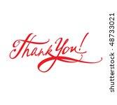 thank you | Shutterstock .eps vector #48733021