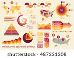 charts  diagrams  graphs ... | Shutterstock .eps vector #487331308