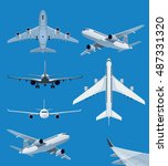 collection of airplane... | Shutterstock .eps vector #487331320