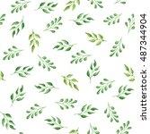 seamless watercolor pattern... | Shutterstock . vector #487344904