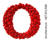 Alphabet Made From Red Hearts....