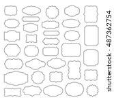 Vintage Frames Set - Vintage frames vector clipart bundle  | Shutterstock vector #487362754
