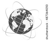 vector globe icon of the world. | Shutterstock .eps vector #487364050