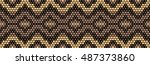 trendy  modern ethnic  beaded ... | Shutterstock .eps vector #487373860