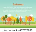 Autumn Or Fall Park Background...