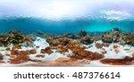 spherical  360 degrees ... | Shutterstock . vector #487376614