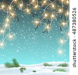 christmas background  winter... | Shutterstock .eps vector #487380526