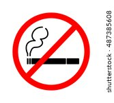 no smoking sign  | Shutterstock .eps vector #487385608