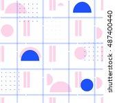 creative  seamless abstract... | Shutterstock .eps vector #487400440