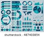 mega set infographic elements... | Shutterstock .eps vector #487403854