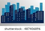 city | Shutterstock .eps vector #487406896
