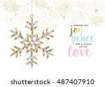merry christmas happy new year... | Shutterstock .eps vector #487407910