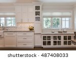 Stock photo custom kitchen cabinets 487408033