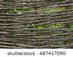 Stick Lattice Fence