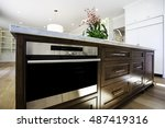 kitchen island with beautiful... | Shutterstock . vector #487419316