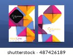 business company profile... | Shutterstock .eps vector #487426189