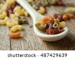 Closeup Of Colorful Pasta On A...