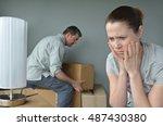 upset woman  age 30 40  do not... | Shutterstock . vector #487430380