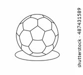 soccer ball icon in outline... | Shutterstock . vector #487431589