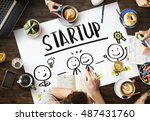 startup ideas people business... | Shutterstock . vector #487431760