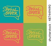 special offer illustrator set... | Shutterstock .eps vector #487449490
