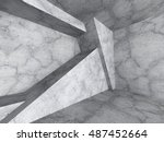 abstract concrete geometric... | Shutterstock . vector #487452664