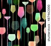 textured paper collage art... | Shutterstock . vector #487462000