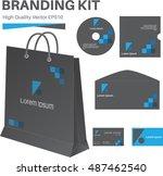 branding kit  high quality... | Shutterstock .eps vector #487462540
