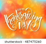 vector thanksgiving day... | Shutterstock .eps vector #487475260