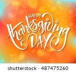 vector thanksgiving day... | Shutterstock .eps vector #487475260