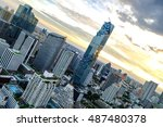 cityscape from a high angle in... | Shutterstock . vector #487480378