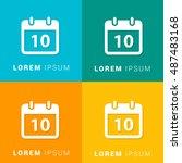 10th calendar four color...