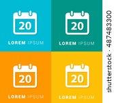 20th calendar four color...