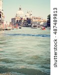 view of the grand canal and... | Shutterstock . vector #487489813