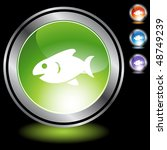 fish web button isolated on a... | Shutterstock . vector #48749239