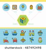 icon set toy vector   Shutterstock .eps vector #487492498