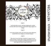 vintage delicate invitation... | Shutterstock .eps vector #487497286