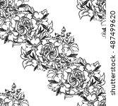 abstract elegance seamless...   Shutterstock .eps vector #487499620
