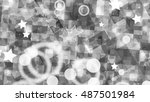 sparkling particle background.... | Shutterstock . vector #487501984