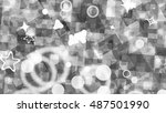 sparkling particle background.... | Shutterstock . vector #487501990